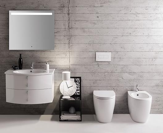 Sanitari arredo bagno alto adige 4all wc bidet di globo ceramica - Arredo bagno globo ...
