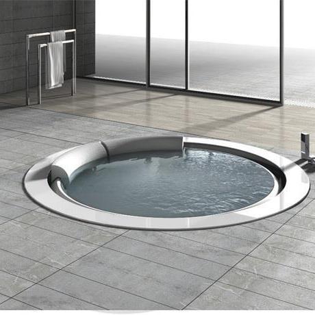 Sanitari arredo bagno alto adige bolla vasca rotonda di hafro - Vasca da bagno rotonda ...