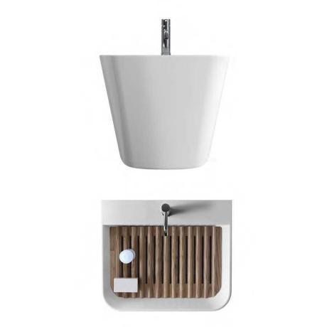 Sanitari arredo bagno alto adige meg11 lavabo lavatoio di ceramica galassia - Galassia arredo bagno ...