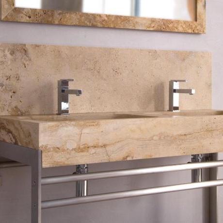 fliesen sanit re badeinrichtung s dtirol travertino r waschtisch aus stein von boxart. Black Bedroom Furniture Sets. Home Design Ideas