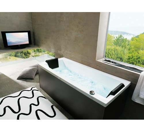 Sanitari arredo bagno alto adige eden vasca rettangolare di glass - Vasche da bagno glass ...