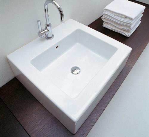 Acquagrande lavabo dapoggio e sospeso di flaminia arredo for Flaminia lavabi