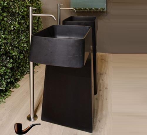pipa freistehender waschtisch aus stein von antonio lupi. Black Bedroom Furniture Sets. Home Design Ideas