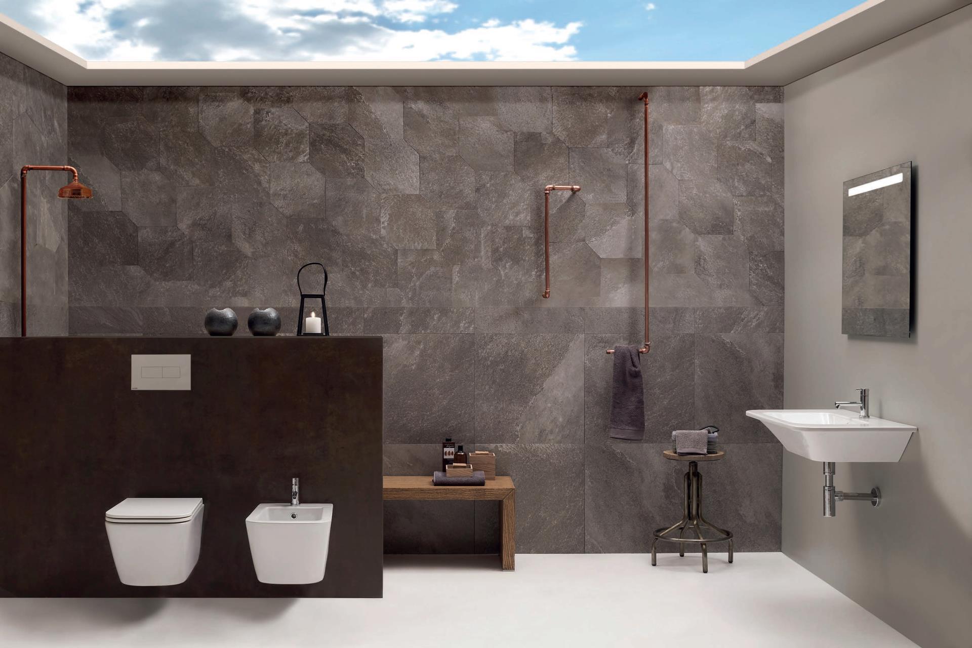 Sanitari arredo bagno alto adige stone wc bidet di globo ceramica - Arredo bagno globo ...