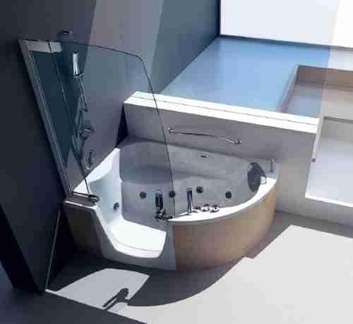 fliesen sanit re badeinrichtung s dtirol 383 wanne mit t r von teuco. Black Bedroom Furniture Sets. Home Design Ideas
