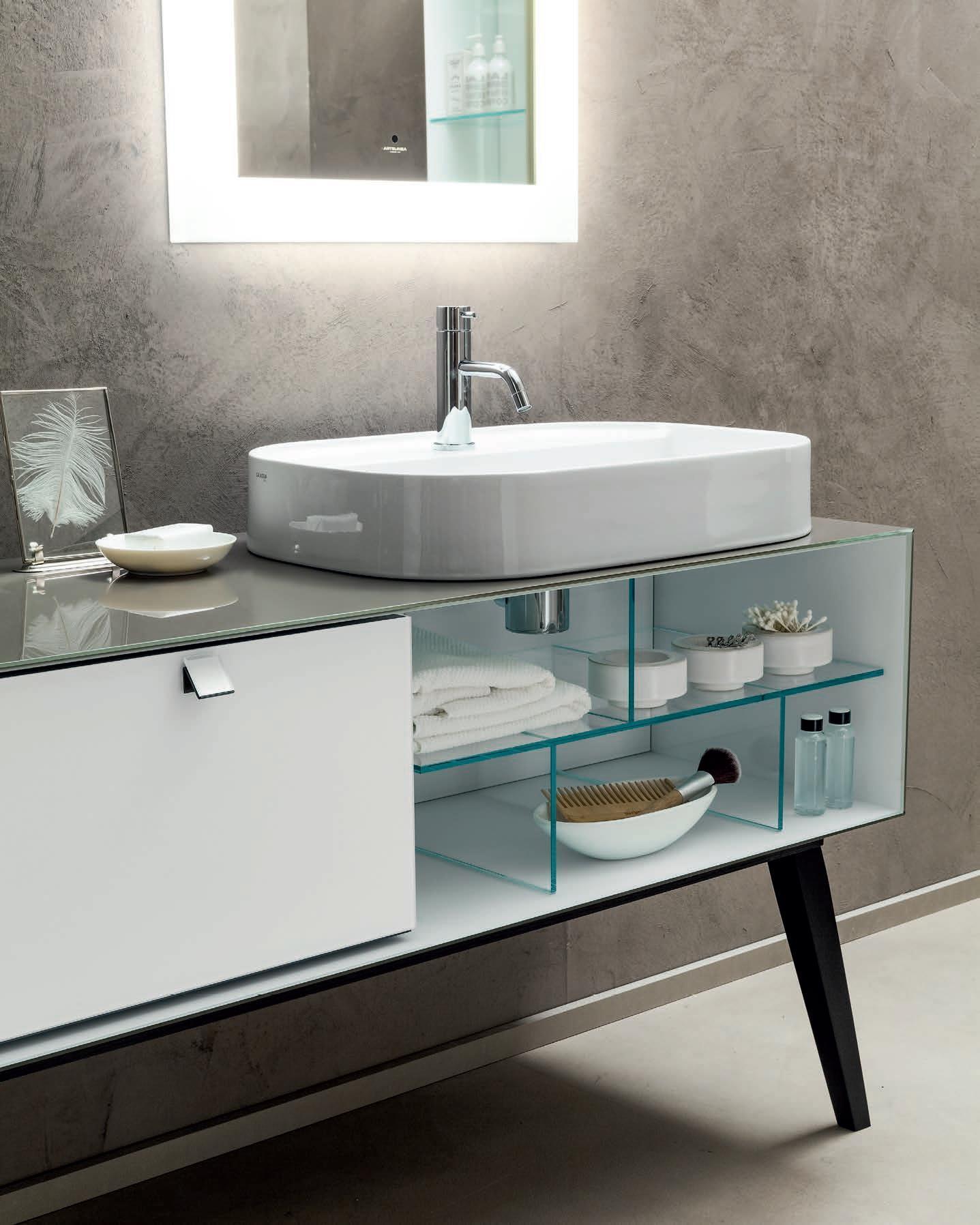 Sanitari arredo bagno alto adige dama mobili da bagno di vetro di artelinea - Mobili bagno in vetro ...