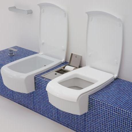 Flaminia Una WC Bidet set