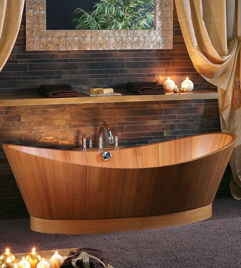 Fliesen Sanitare Badeinrichtung Sudtirol Holz Wanne Aus Holz